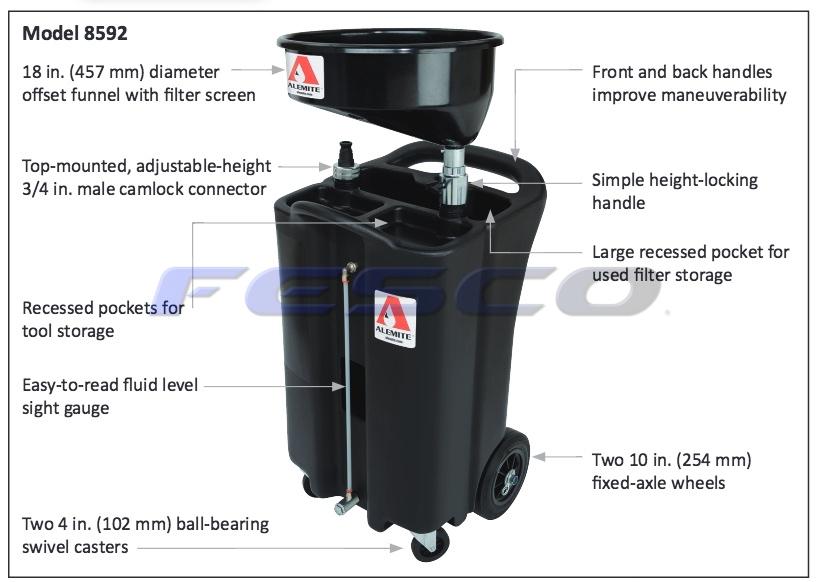 Alemite 8592 Used Fluid Drain (King Oil)