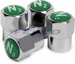 Nitrogen Tire Valve Stem Caps