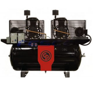 Chicago Pneumatic RCP-C15121D - 2 Stage Duplex Air Compressor 15hp 120gal