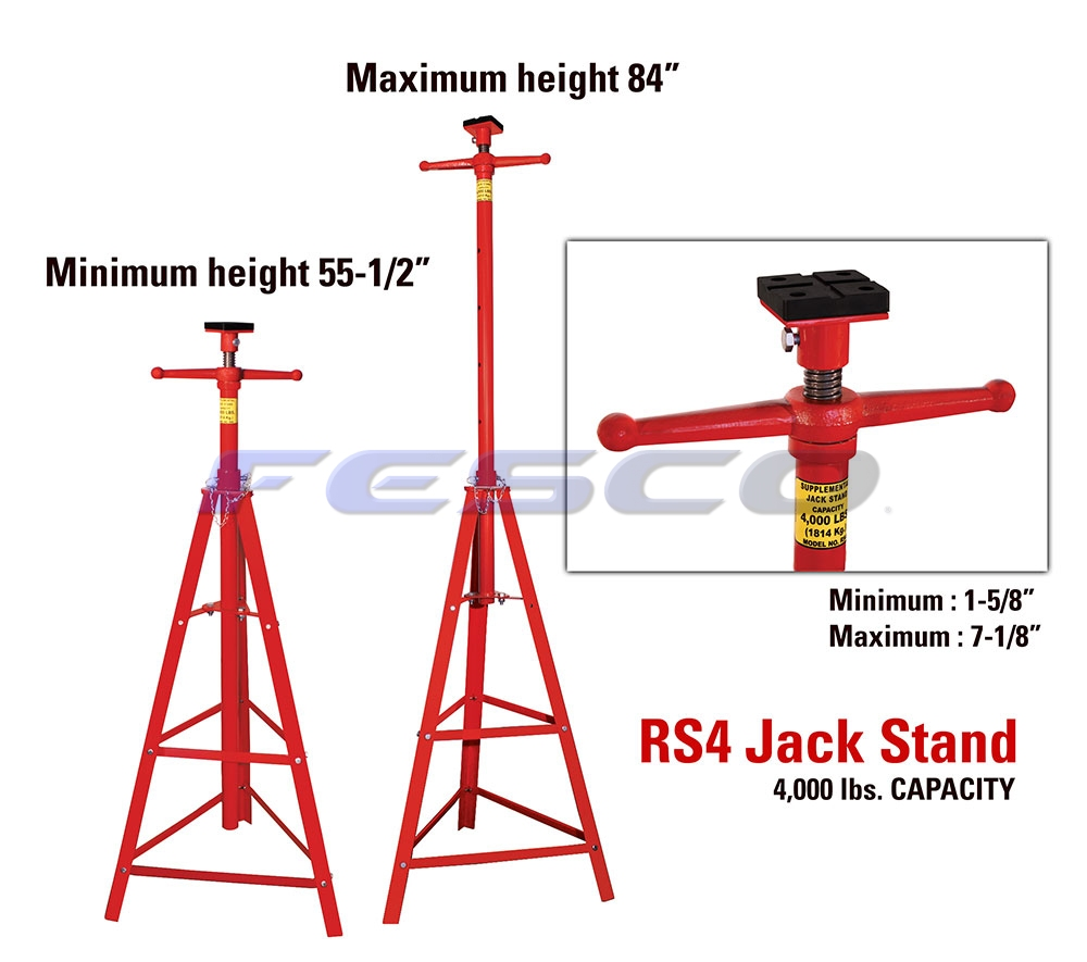 RS4 4000lb Supplementary Jack Stand