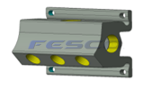 Aluminum FPT 5 Port Manifold
